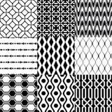 Безшовная черно-белая геометрическая картина Стоковые Фотографии RF