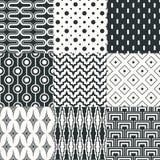 Безшовная черно-белая геометрическая картина Стоковое Фото