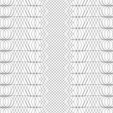Безшовная черно-белая декоративная предпосылка с абстрактной геометрической картиной Стоковое Изображение