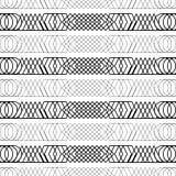 Безшовная черно-белая декоративная предпосылка с абстрактной геометрической картиной Стоковые Изображения