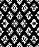 Безшовная черно-белая декоративная предпосылка с геометрическими формами иллюстрация вектора