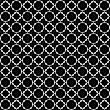 Безшовная черно-белая декоративная предпосылка с геометрическими формами бесплатная иллюстрация