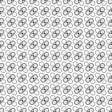 Безшовная черно-белая декоративная предпосылка с кругами иллюстрация вектора