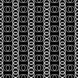 Безшовная черно-белая декоративная предпосылка с кругами иллюстрация штока