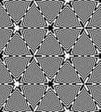 Безшовная черно-белая картина треугольников доски абстрактная предпосылка геометрическая Обман зрения перспективы Стоковая Фотография RF