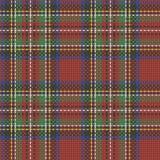 Безшовная шотландская приданная квадратную форму предпосылка ткани Стоковые Изображения