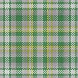Безшовная шотландская приданная квадратную форму предпосылка ткани Стоковое Изображение RF