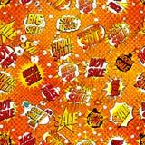 Безшовная шуточная иллюстрация вектора скидки продажи в стиле искусства шипучки Стоковая Фотография RF