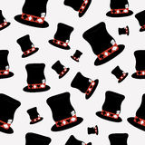 Безшовная шляпа Hatter от мира страны чудес Стоковое Изображение RF