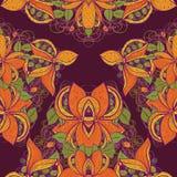 Безшовная экзотическая картина цветка в векторе Стоковые Изображения