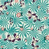 Безшовная экзотическая флористическая картина Стоковое Изображение RF