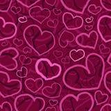 Безшовная элегантная пурпурная картина дня Святого Валентина иллюстрация вектора