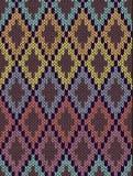 Безшовная этническая геометрическая связанная картина Стоковое фото RF