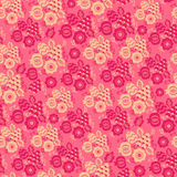 Безшовная этническая картина цветков Стоковое Изображение RF