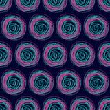 Безшовная яркая картина от кругов иллюстрация штока