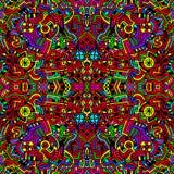 Безшовная яркая цветастая абстрактная предпосылка иллюстрация вектора