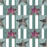 Безшовная checkered картина звезд заплатки детей Стоковые Фотографии RF