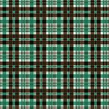 Безшовная checkered предпосылка картины шотландки коричневая зеленая шотландка иллюстрация вектора