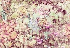 Безшовная, handmade текстура стекла мозаики искусства Акриловый, акварель, чернила иллюстрация вектора