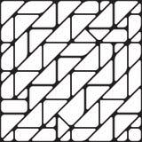 Безшовная Monochrome геометрическая предпосылка Стоковое Фото
