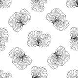 Безшовная monochrome иллюстрация вектора картины Стоковое Изображение RF