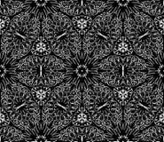 Безшовная monochrome картина 13 Стоковое Фото
