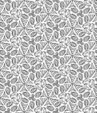 Безшовная monochrome картина 17 Стоковая Фотография