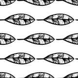 Безшовная monochrome картина feathers-07 Стоковая Фотография RF