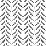Безшовная monochrome картина feathers-11 Стоковое фото RF