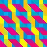 Безшовная Overlaid картина полигональных форм Cmyk Стоковое Фото