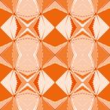 Безшовная pixelated геометрическая оранжевая картина Стоковые Фото