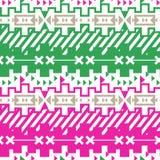 Безшовная striped геометрическая предпосылка Стоковое Фото