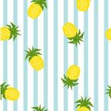 Безшовная striped картина ананаса геометрическая, illustratio вектора Стоковые Фотографии RF