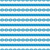 Безшовная striped картина с веревочками и цепями. Стоковые Фото
