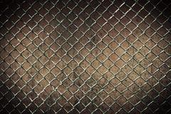 Безшовная tileable стена загородки звена цепи в предпосылке Стоковое Фото