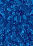 безшовное абстрактной предпосылки голубое Стоковая Фотография
