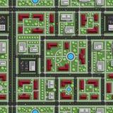Безшовное взгляд сверху картины города Стоковые Изображения RF