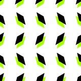 Безшовное геометрическое искусство предпосылки дизайна конспекта вектора картины с красочным диамантом формирует белые зеленый цв Стоковая Фотография
