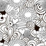Безшовное декоративной природы вектора орнаментальное Стоковые Изображения