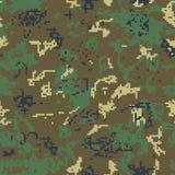 Безшовное зеленое камуфлирование картины пиксела бесплатная иллюстрация