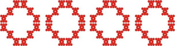 безшовное картины красное Стоковая Фотография