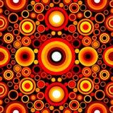 безшовное картины круга ретро Стоковые Фото