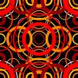 безшовное картины круга ретро Стоковые Изображения