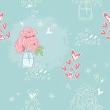 безшовное картины романтичное Стоковые Фото