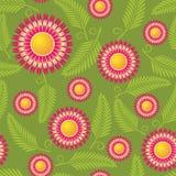 безшовное картины цветка красное Стоковые Фотографии RF