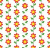 безшовное картины цветка красное Стоковое Фото