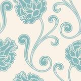 безшовное картины цветка ретро Стоковое Изображение
