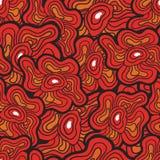 безшовное картины цветков красное иллюстрация штока