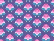 безшовное картины цветков ретро Стоковая Фотография RF