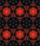Безшовное красное черное золото Стоковое Изображение